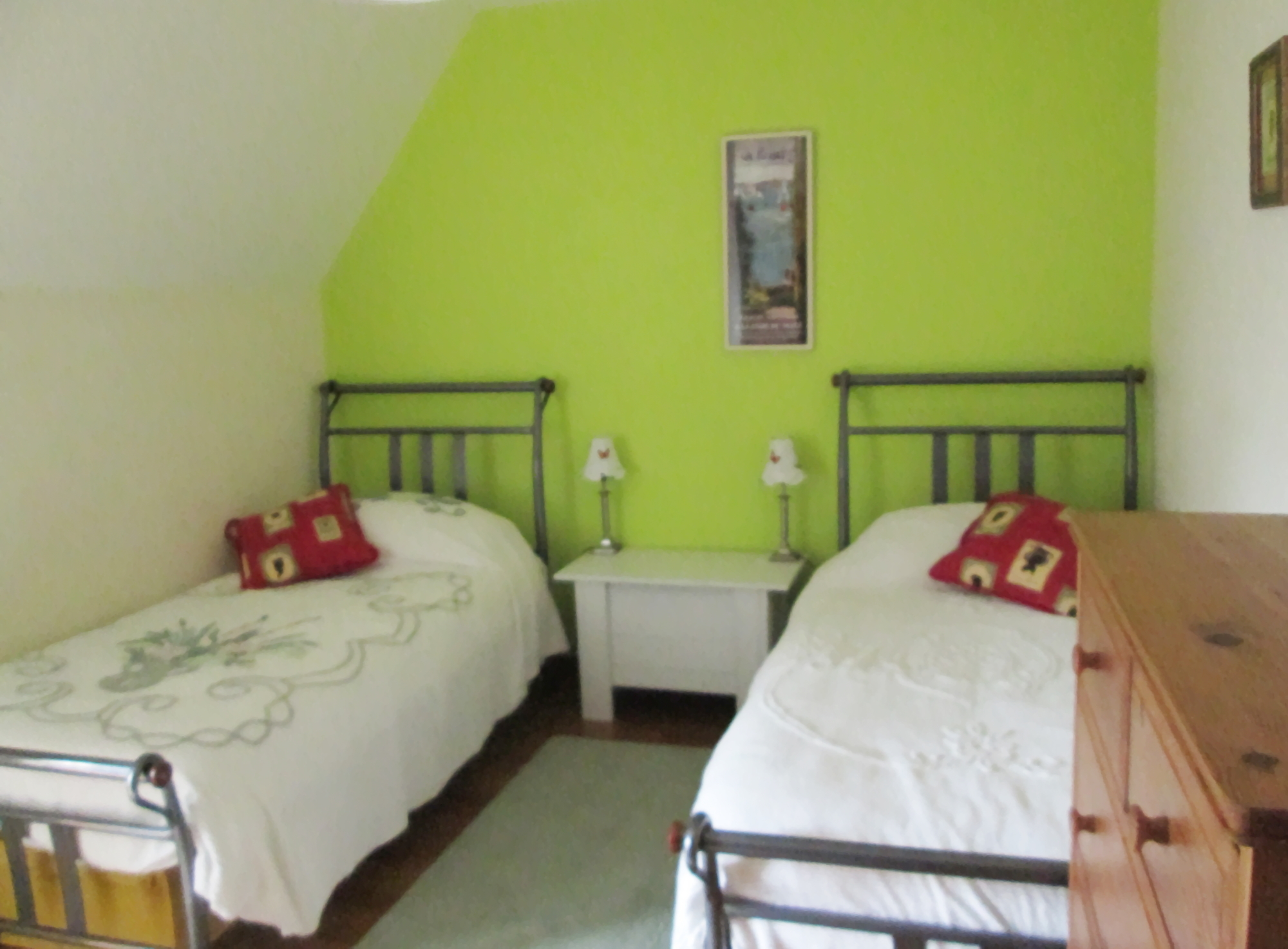 Twin room in Fougère